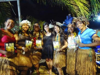 "Daniela Alarcon launched the book ""O retorno da terra"" in Tupinamba territory (12-23-19)"