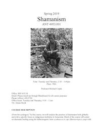 Cepek syllabus shamanism 2019