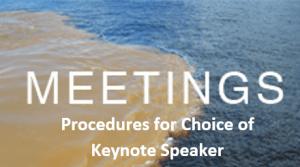 Selection of Keynote Speaker