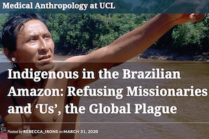 Refusing missionaries and 'Us', the global plague, by Barbara Arisi (3-31-20)