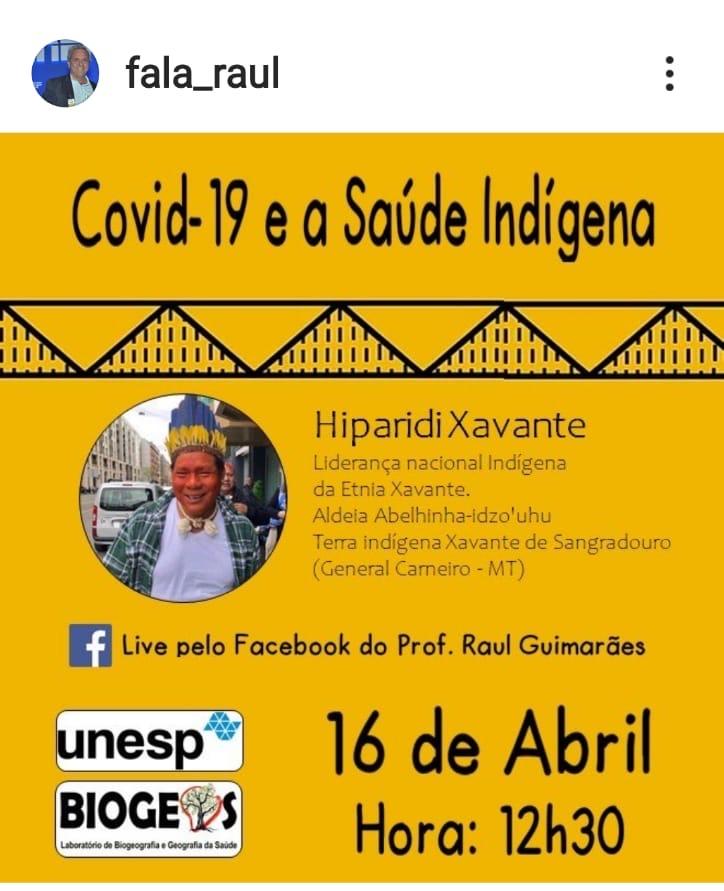 Publicity Flyer-Xavante Covid talk