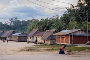 Vista de una comunidad Amazónica