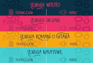 Mincultura Colombia traducción lenguas nativas covid-19
