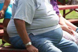 obese man sitting