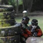 men playing painball