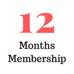 12 Months Membership (classes only or classes and choreos)