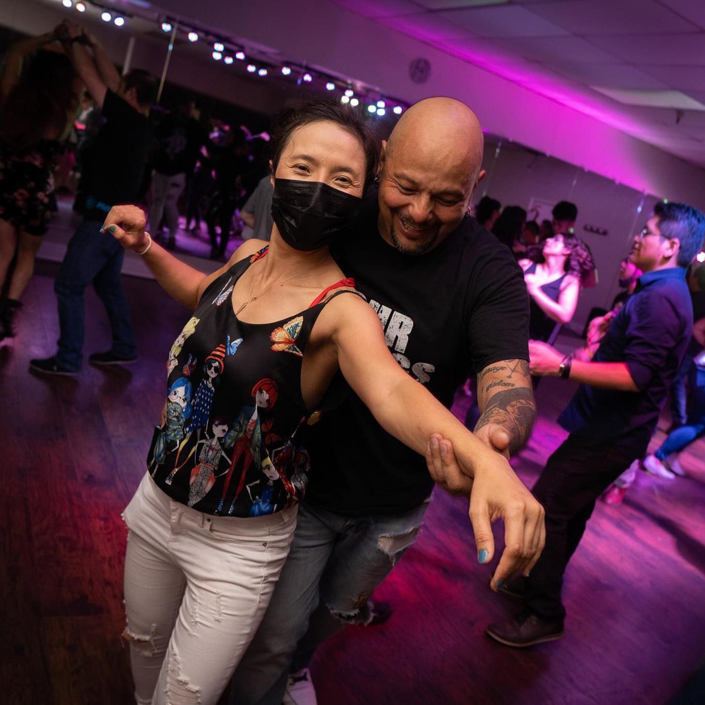 Masked Salsa Dancing Social