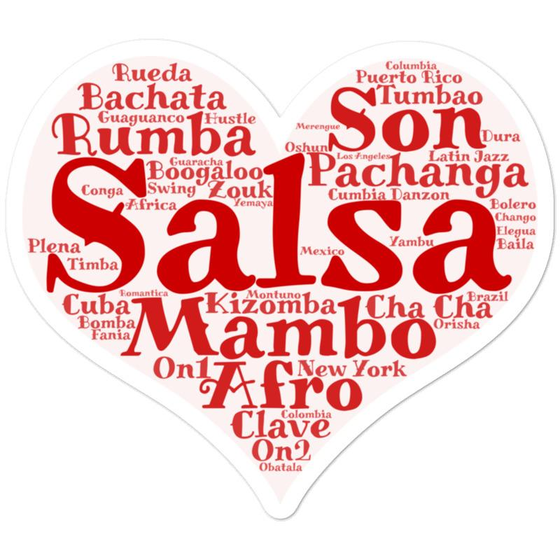Salsa Heart Sticker