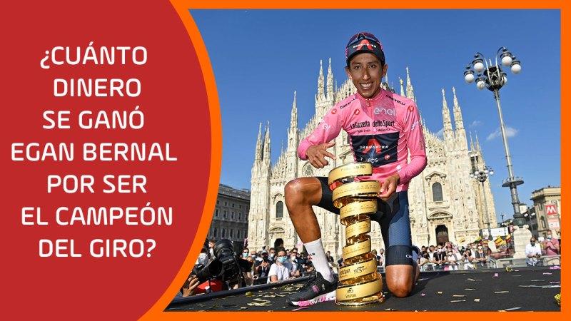 ¿Cuánto dinero se ganó Egan Bernal por ser el campeón del Giro?