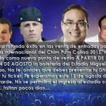 Habilitan venta de entradas en el Miguel Grau para el Chim Pum Callao 2015