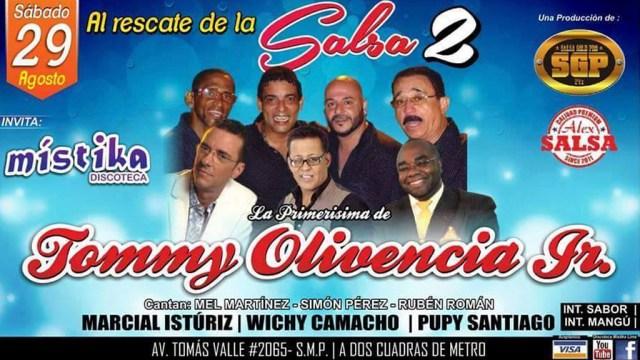 Afiche promocional del concierto 'Al Rescate de la Salsa II'. (Imagen: Facebook)