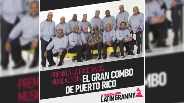 Afiche donde se anuncia a uno de los ganadores del premio a la Exelecncia Musical 2015. (Imagen: Facebook/ElGranCombo)