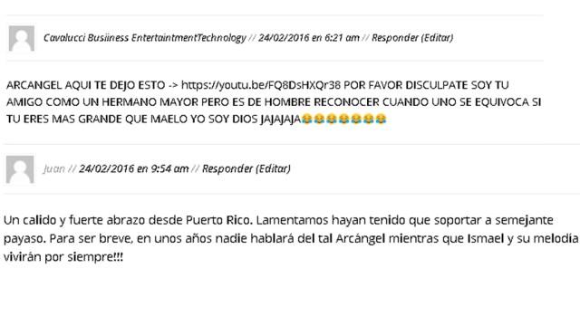 Estos son algunos de los comentarios contra lo dicho por Arcángel. (Imagen: Salserísimo Perú)