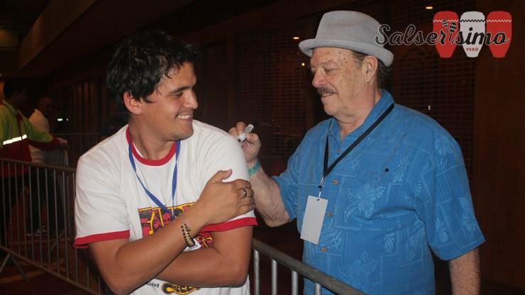 Larry Harlow durante la última visita de Fania All Stars a Perú. (Foto: Facebook Antonio Alvarez)