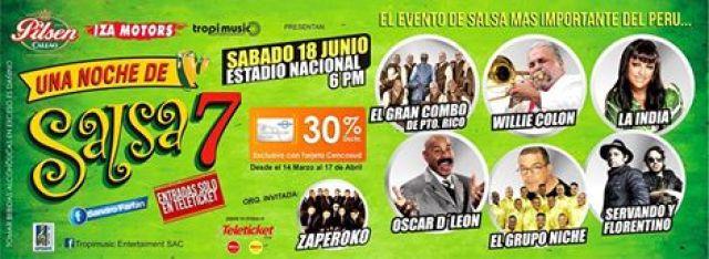 Afiche promocional del show 'Una Noche de Salsa 7'. (Foto: Facebook/Zaperoko)