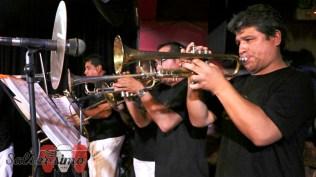 Los vientos de la orquesta de Liusito Carbajal estuvieron impecables. (Foto: Salserísimo Perú)
