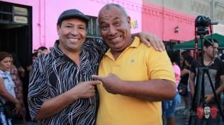 Oscar Mendoza, director del Combo Espectáculo Creación, junto a Walter Rentería, fundador de Pueblo Latino. (Foto: Salserísimo Perú)