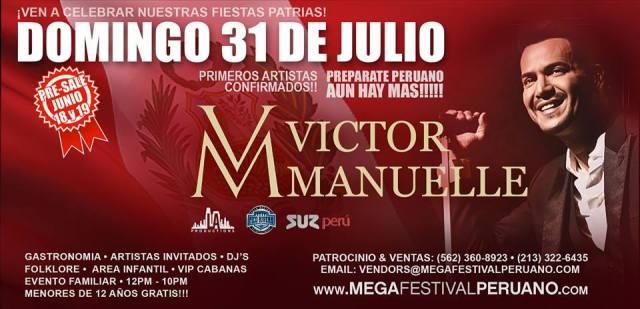 Afiche promocional del Mega Festival Peruano 2016. (Imagen: Facebook)