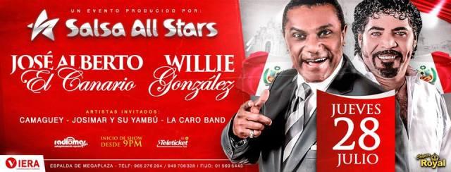 Afiche promocional del concierto de El Canario y Willie González. (Imagen: Facebook)