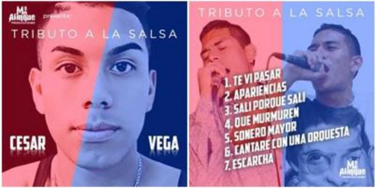 Esta imagen fue compartida por el mánager de César Vega a través de Facebook. (Foto: Facebook/RudhyFlores)