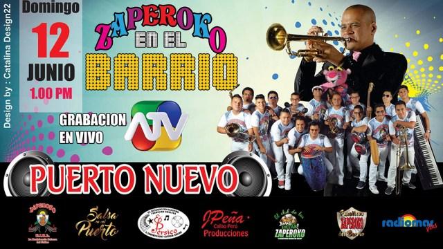 Afiche promocional del evento en Puerto Nuevo. (Imagen: Facebook/OrquestaZaperoko)