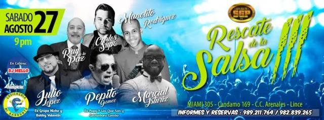 Afiche promocional del show Al Rescate de la Salsa. (Imagen: Facebook)
