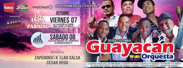Afiche de las presentaciones de Guayacán de Colombia en nuestro país. (Imagen: Facebook)