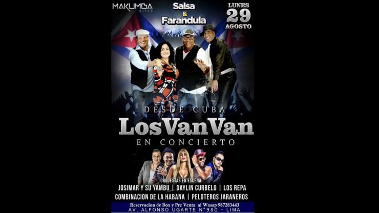 Afiche oficial de la presentación de la agrupación cubana. (Cortesía: Fb/Johnny Hidalgo)