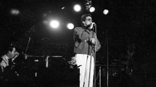 Héctor Lavoe durante su show en Lima. (Foto: Archivo El Peruano)