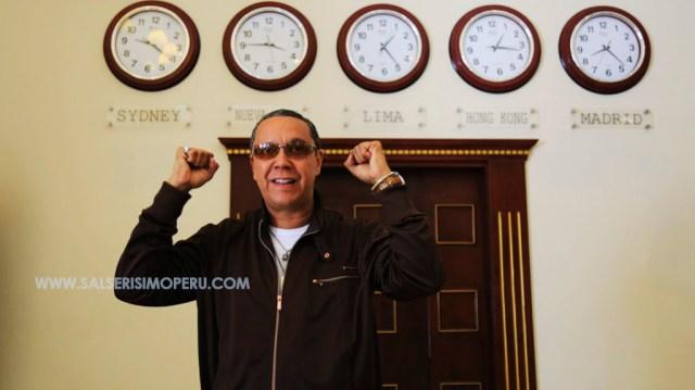 Hermán Olivera durante su visita, previo al show Guaguancó del Mulato. (Foto: Antonio Alvarez / Salserísimo Perú)