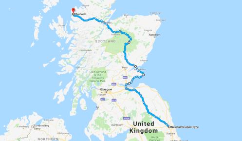 East Coast to Gairloch