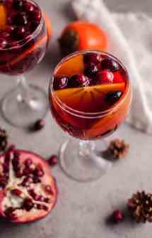 Persimmon and Pomegranate Sangria