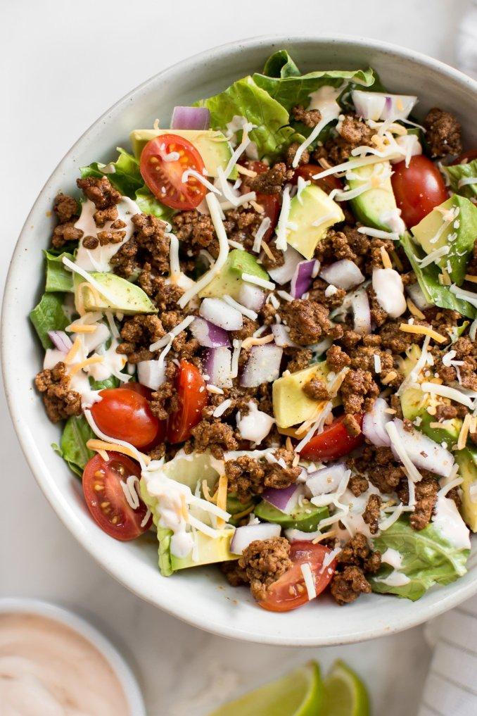 Low Carb Taco Salad Recipe • Salt & Lavender