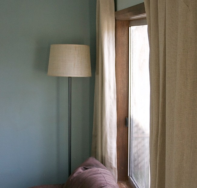 DIY linen curtains