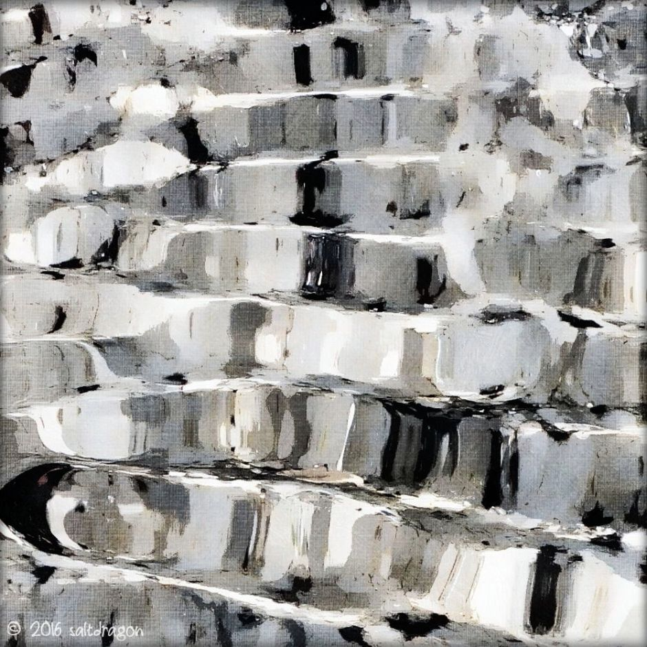 Abstract granite from Porth Nanven in the west of Cornwall