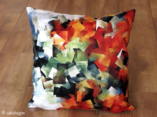 cushion featuring abstract design