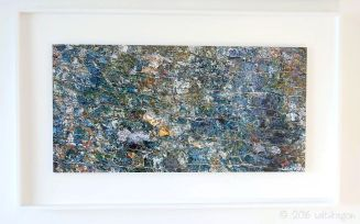 """""""Serpentine rock in the wall"""" framed in white tulipwood"""