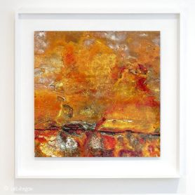 Neptune's Rust - HD metal print float mounted in white tulipwood