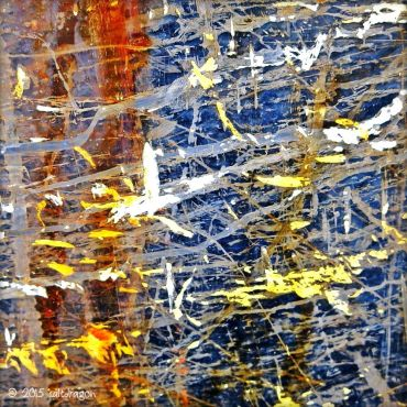 Painterly marks on a Newlyn fishing boat