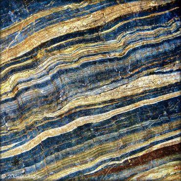 Stripy rock at Castle Beach