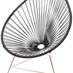 Innit Acapulco Chair Steel In Wwe Black And Copper Designs