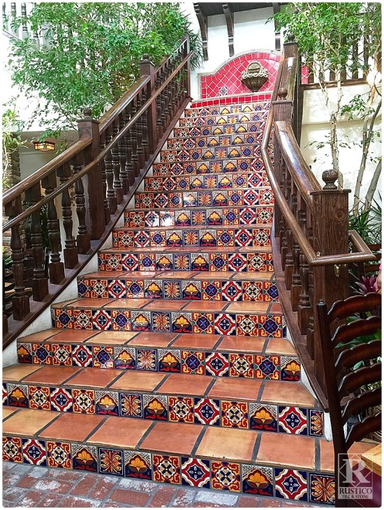 Mexican Tile Staircase
