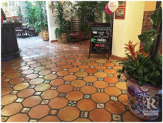 Octagon Saltillo Restaurant Floor Tile