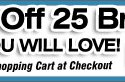 Save an extra 25% off 25 deals!