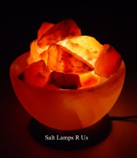 6x Fire Bowl Salt Lamp Basket Himalayan Pink Rock Crystal ...