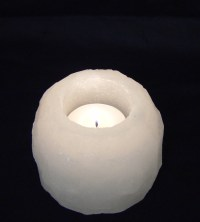 Rough and Natural White Salt Candle Holder Himalayan (Sold ...