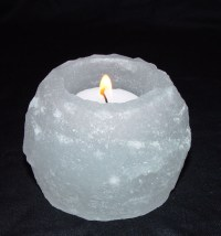 White Salt Candle Holder Himalayan (Sold Pack of 3 ...