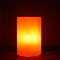 Cylinder Shape Himalayan Rock Salt Lamp with Plastic Feet ...
