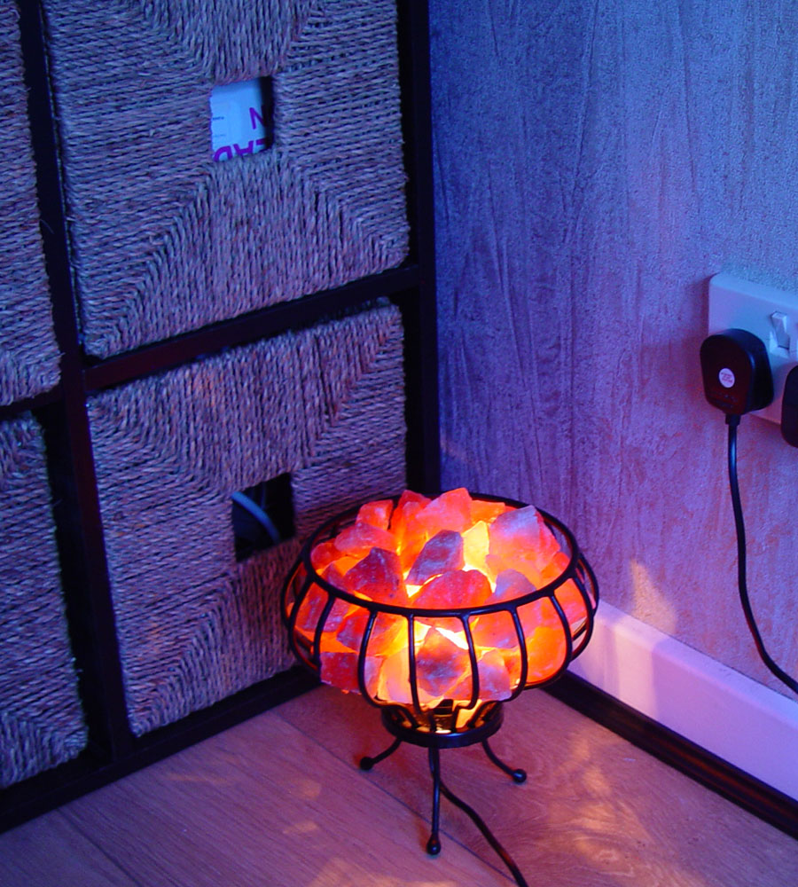 Crystal Salt Lamps Switch Lighting Lamps Plug Electrical Wire Brown