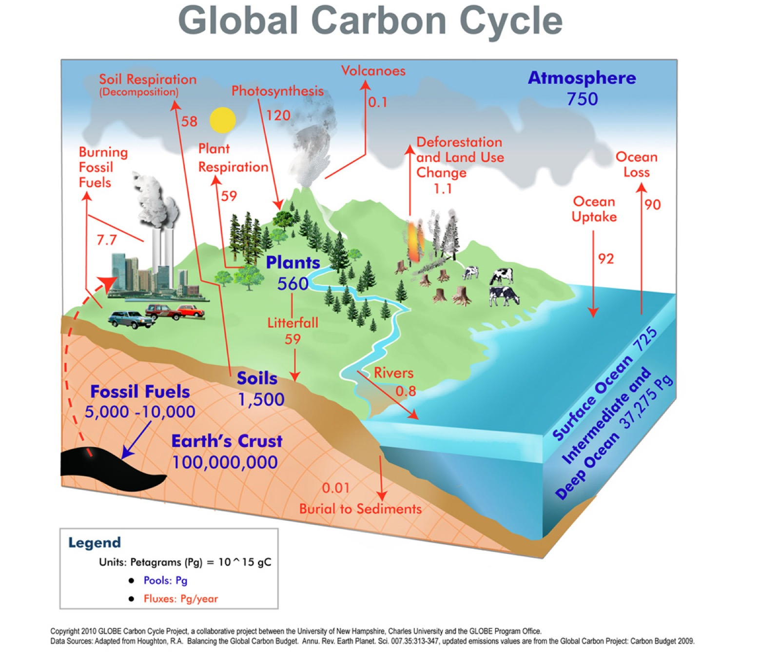 hight resolution of the carbon cycle refers to the continuous movement of carbon the most abundant element on